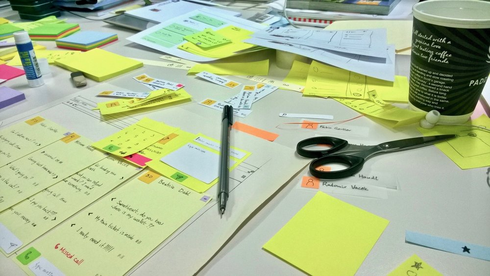 Making the paper prototypes