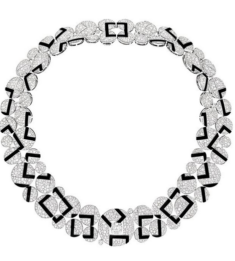 Chanel necklace with rounds and squares.