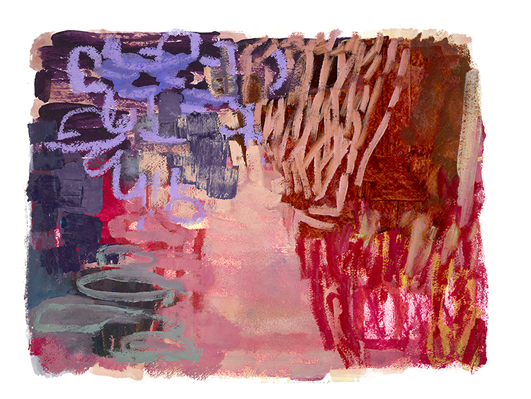 """Park Series, Violet  variable: 30 x 40""""/36 x 48"""" giclee on Arches paper (edition of 50)"""