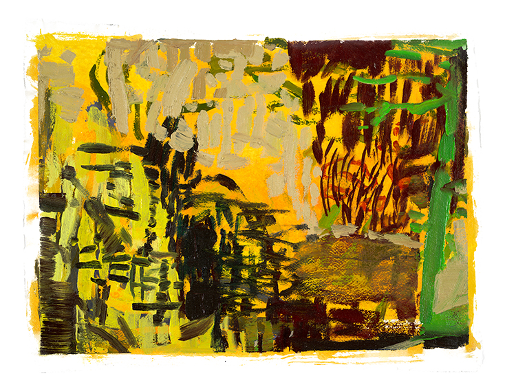 """Park Series, Golden  variable: 30 x 40""""/36 x 48"""" giclee on Arches paper (edition of 50)"""