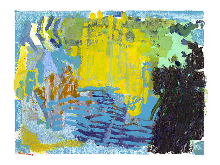 """Park Series, Indigo  variable: 30 x 40""""/36 x 48"""" giclee on Arches paper (edition of 50)"""