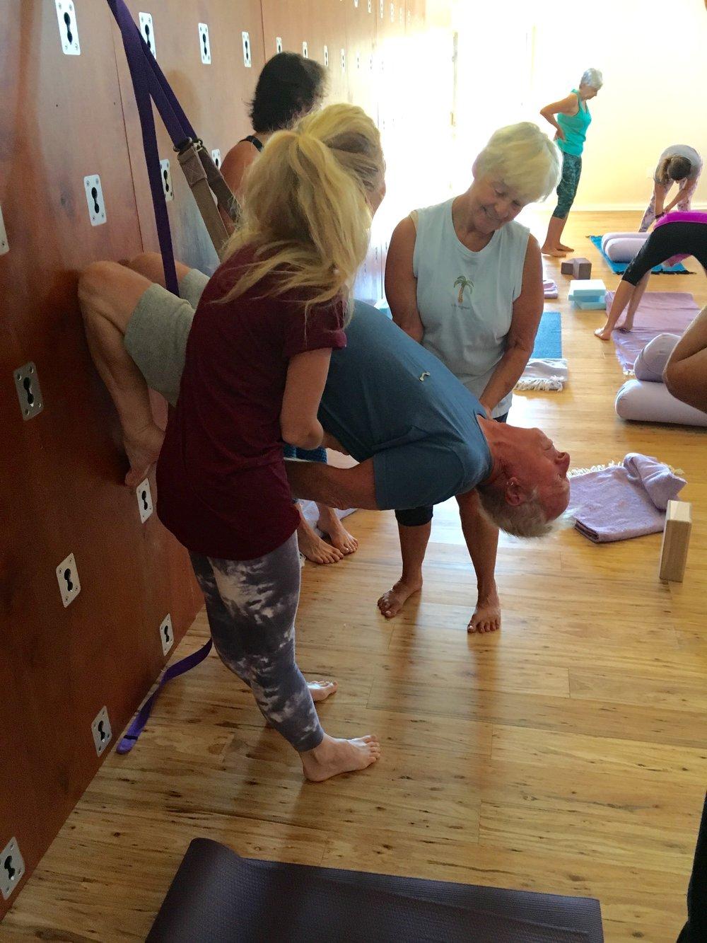 Yoga Wall class at Triple Om Ranch