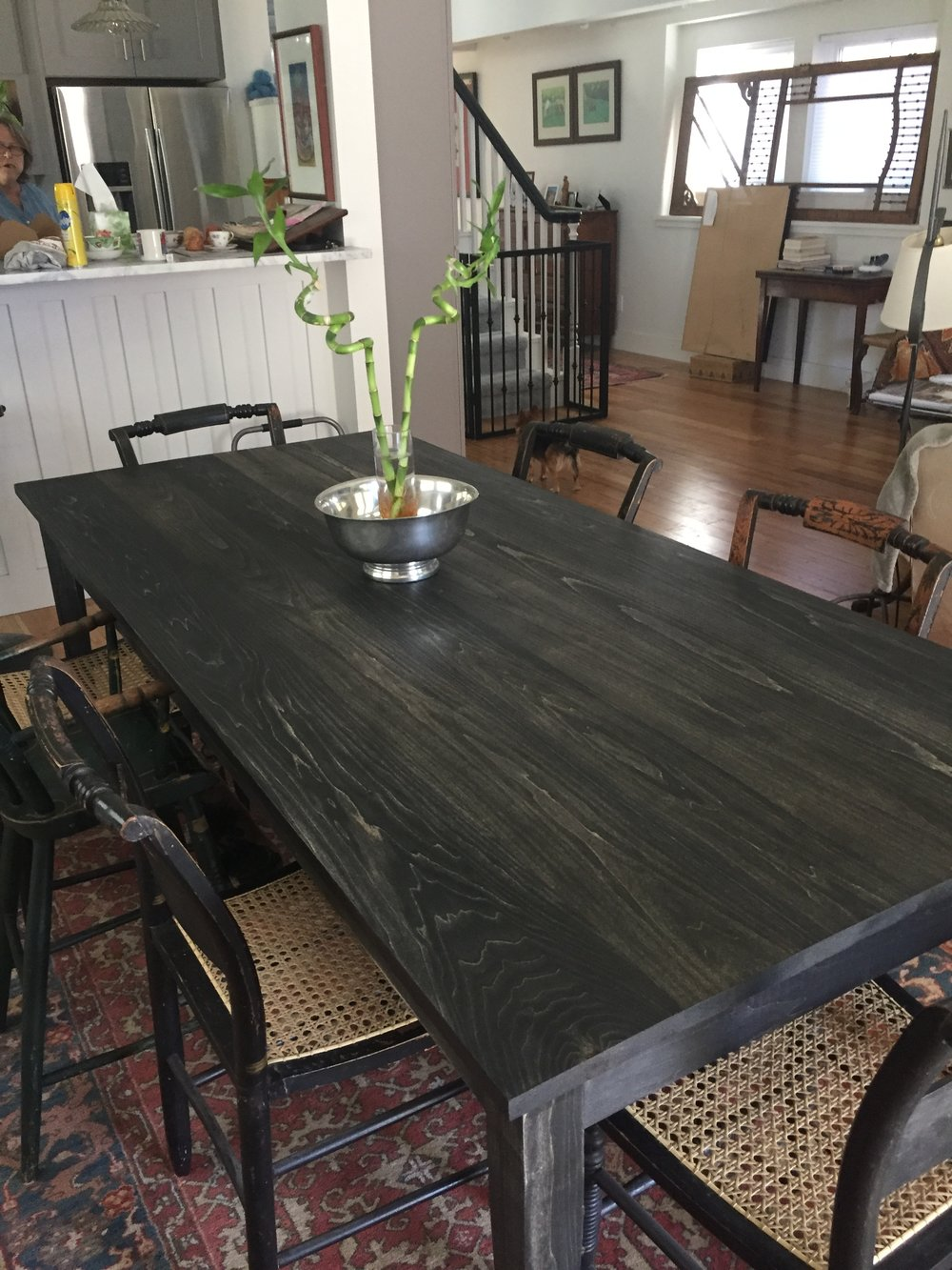 Stained Poplar Dining table