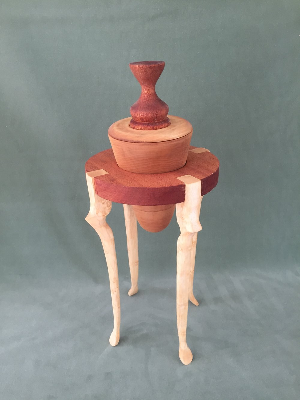 Maple/Mahogany Vessel and Stand