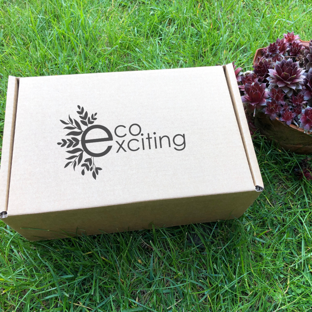 Subscribe to your quarterly EcoExciting box - A box of eco-friendly, sustainable items delivered to your door once every three months.