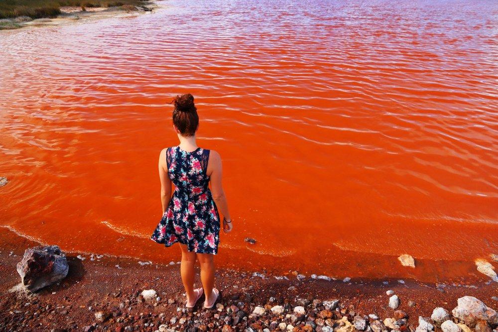 pink-lake-australia-orange