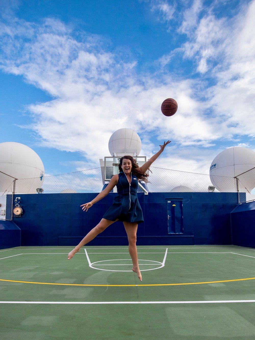 celebrity summit: Basketball court