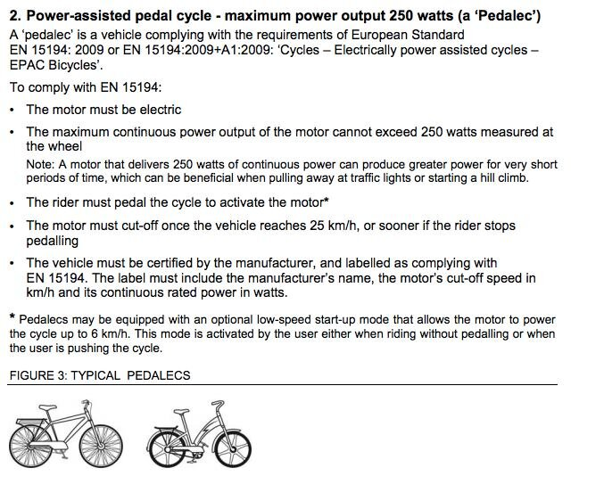 Power-assisted pedal cycle (electric bike) regulations in New South Wales, Australia