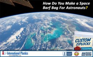 Ziplock Space Barf Bag