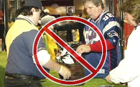NFL Bag not in stadium