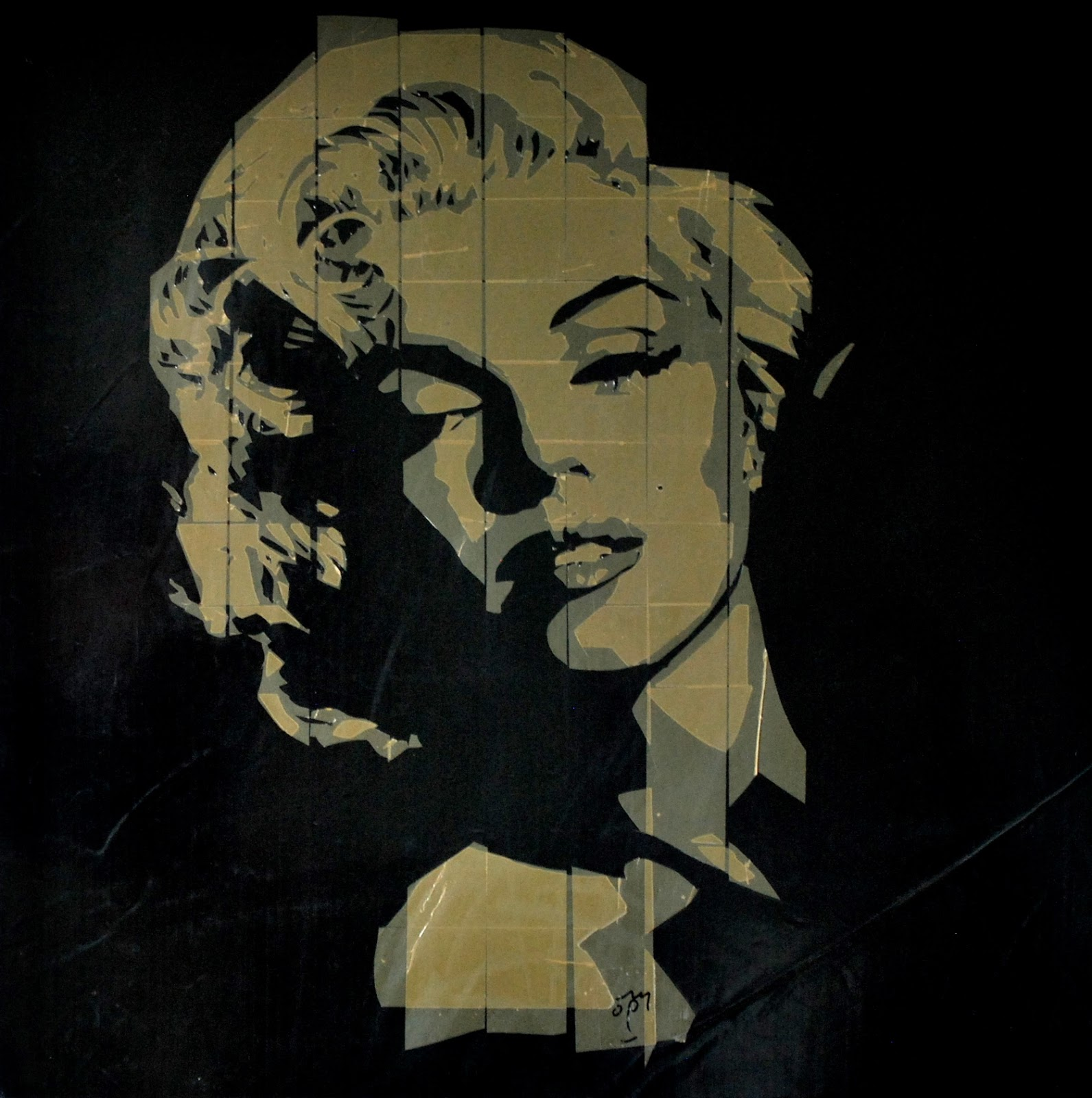 Marylin Monroe Packaging Tape Portrait