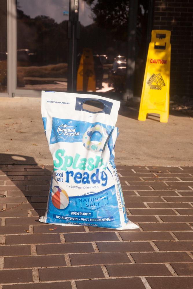 Heavy Duty Rock Salt Bag with Handle