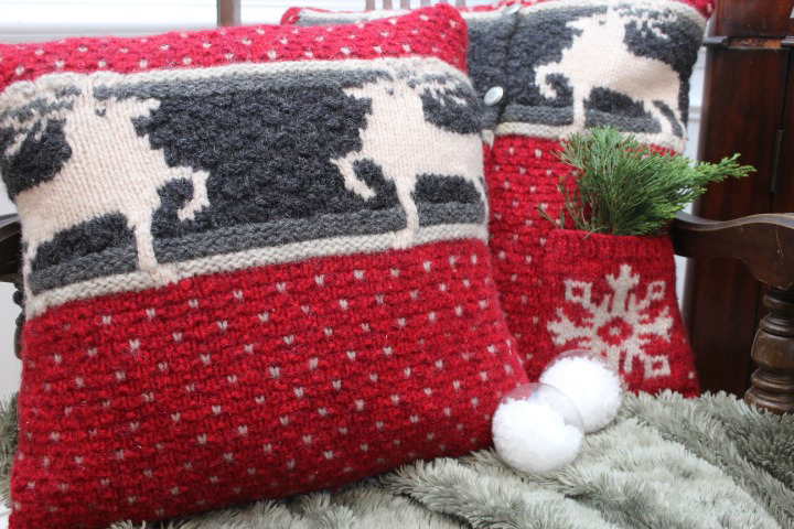 Grab last years ugly sweater and liven up your sofa