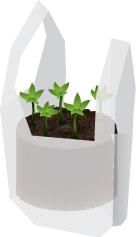 Reuse Plastic Bags In The Garden