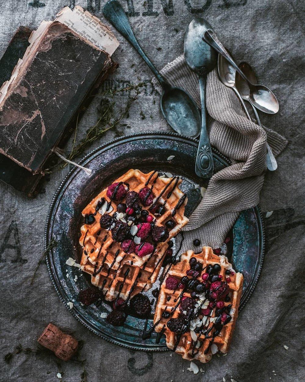 franske vafler utendors matfoto mats dreyer