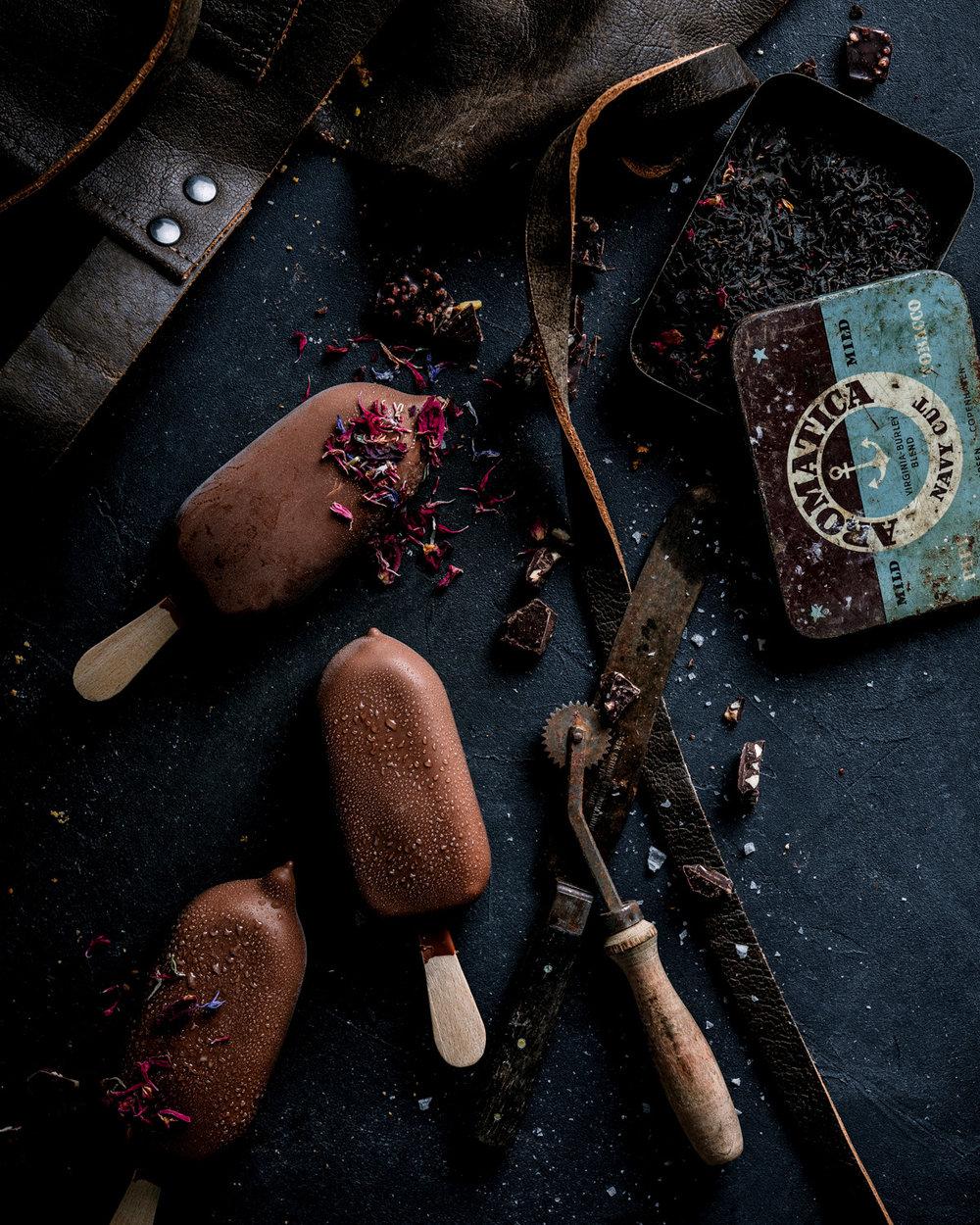 Matstylist oslo matfotograf mats dreyer iskrem dessertfoto styling