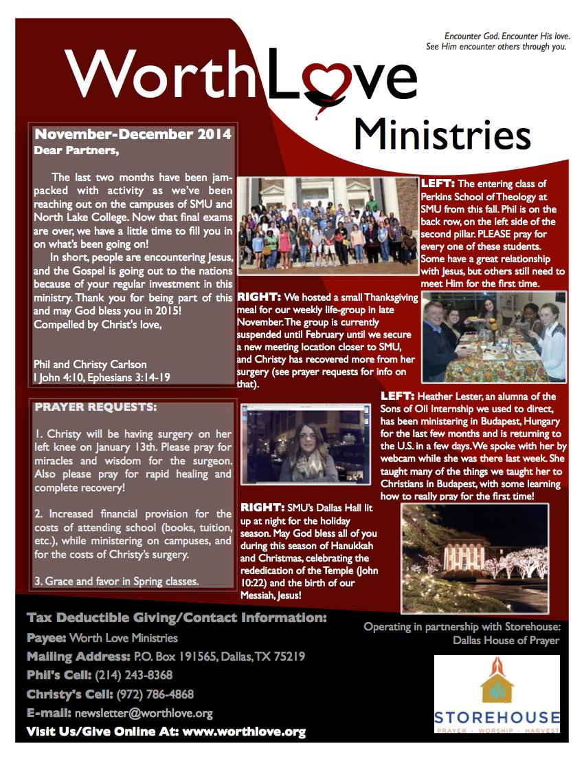 WLM newsletter online Dec 2014