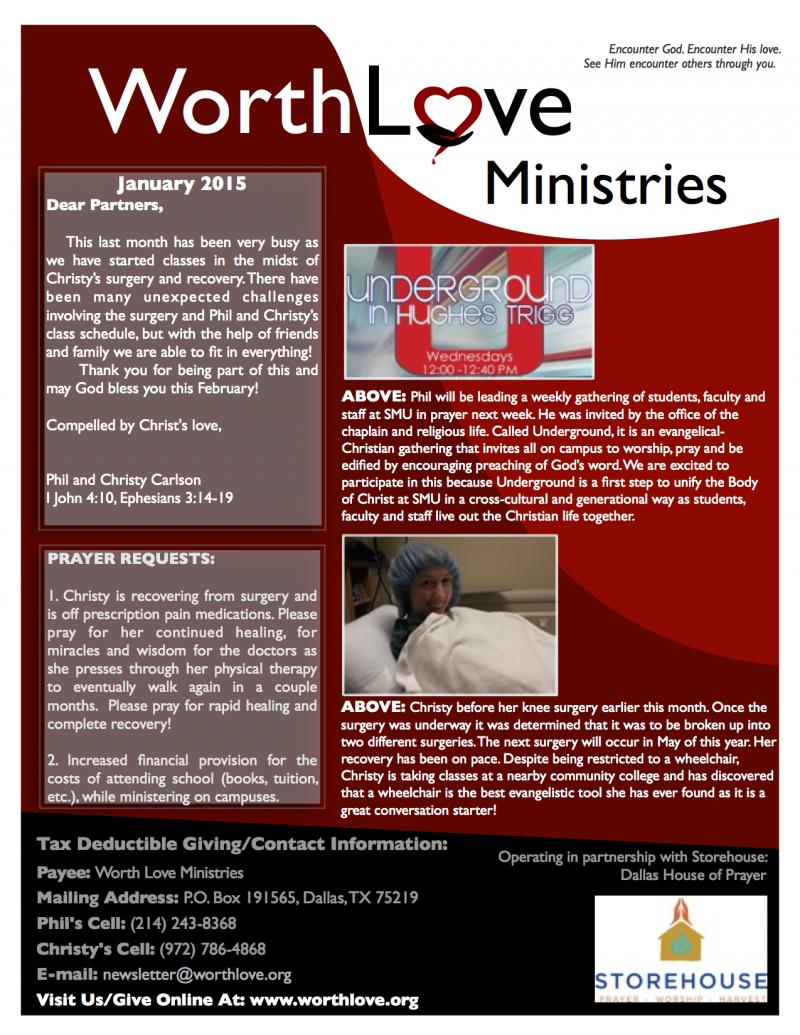 WLM newsletter Jan 2015