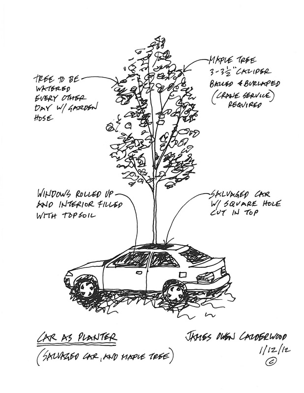 Car As Planter