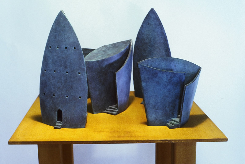 Architectural Bronze Series - This series of 5 architectural bronze tabletop sculptures could be considered models for larger monumental pieces.