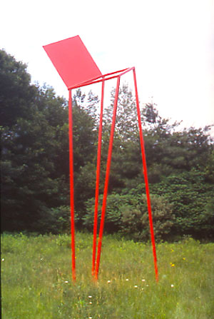 Chair in the Air II - Painted SteelApproximate Dimensions: 20'ht. x 6' x 4'
