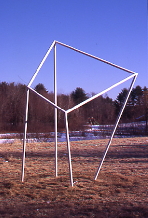 Skewed Cube - Painted AluminumApproximate Dimensions: 14' Ht. x 8' x 8'