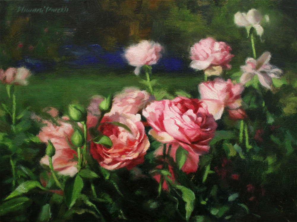 Pink Bloom  16 x 12  Oil on Canvas