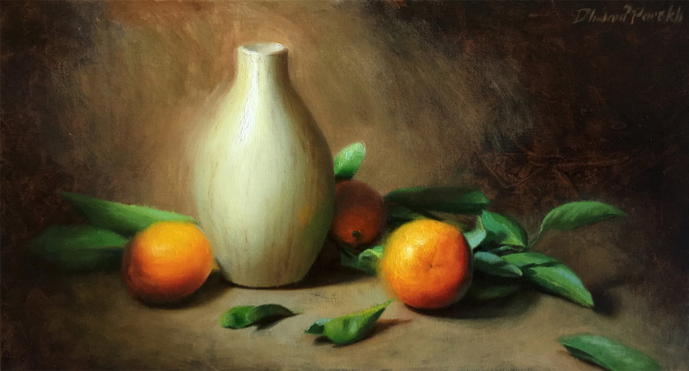 Between Oranges ll  20 x 11  Oil on Canvas