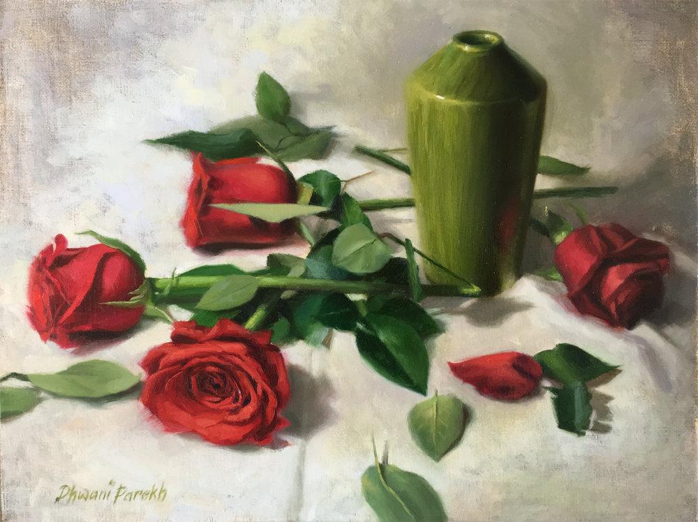 The Empty Vase  16 x 12  Oil on Canvas