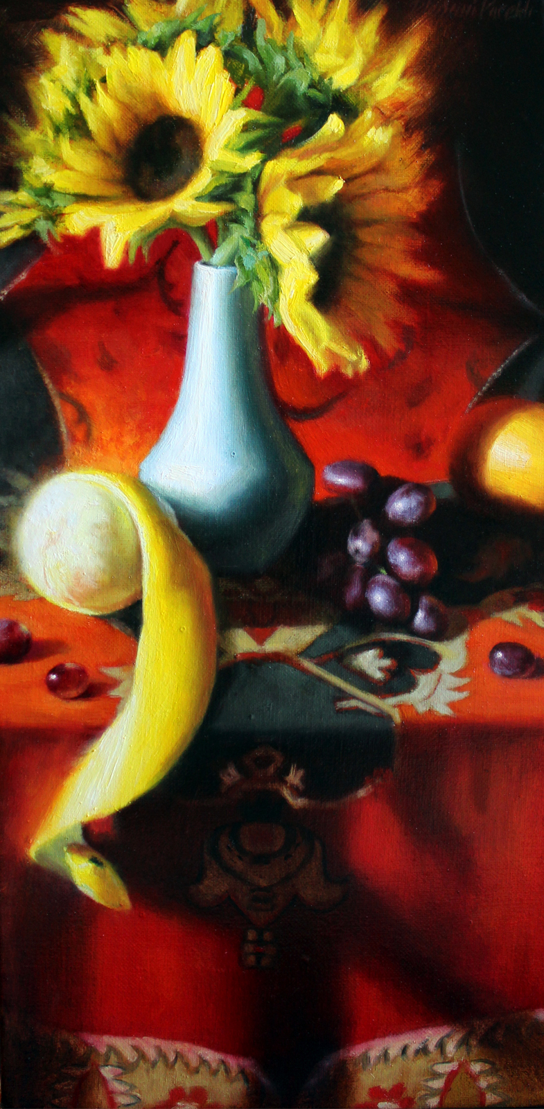 Unusual Arrangement  10 x 20  Oil on Canvas