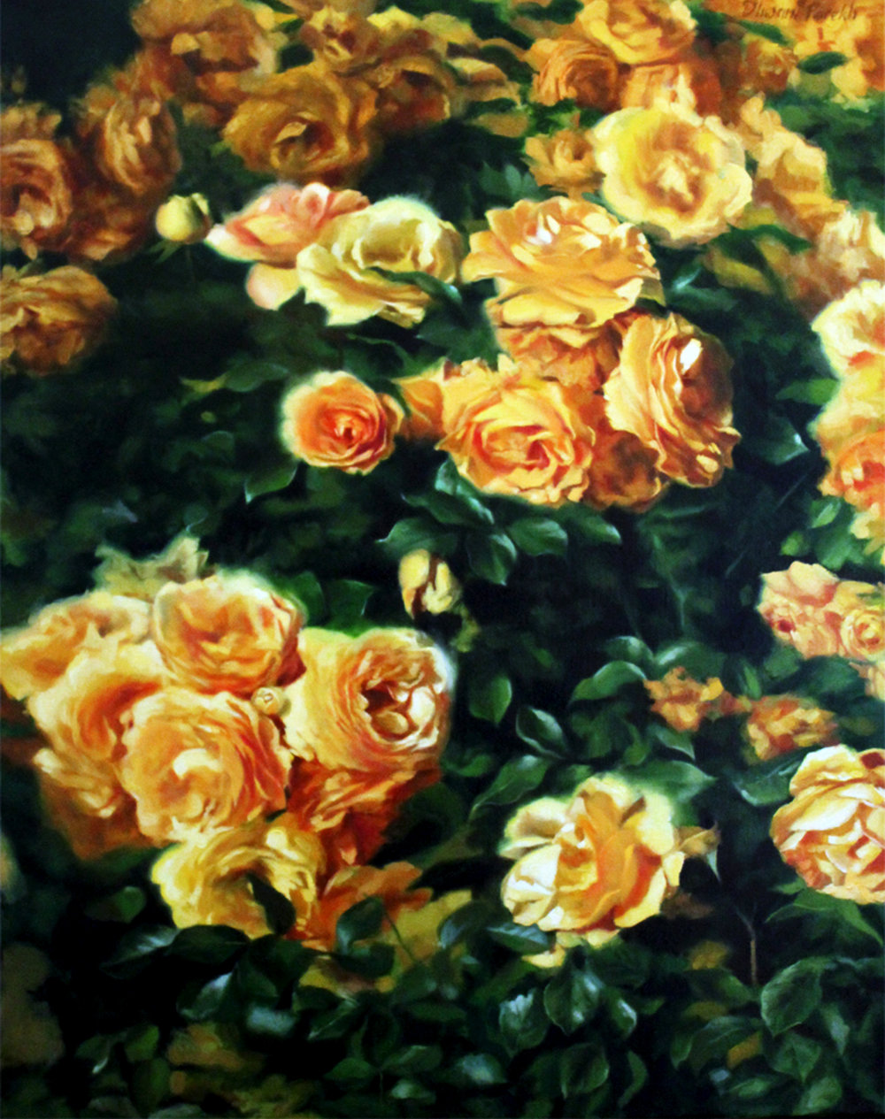 Yellow Roses  22 x 28  Oil on Canvas