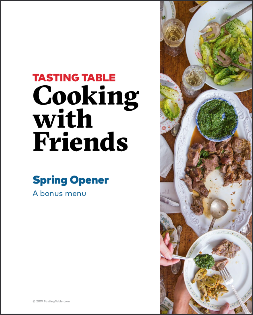 """Bonus menu - When you order our cookbook before May 7 you'll also get our digital bonus menu free! Just purchase the book at any of our partners, then enter our Master Entertainer $5000 sweepstakes with your receipt code. Everyone who enters receives a free digital download of our """"Spring Opener"""" bonus menu"""