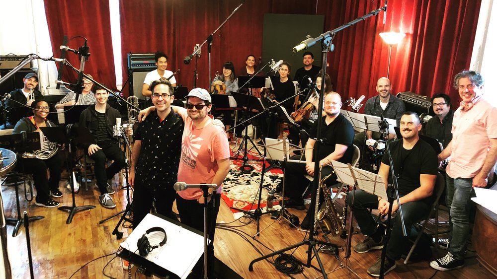 Wrapping up recording a 15-piece orchestra for IFC's Documentary Now! (Original Cast Album: Co-op)