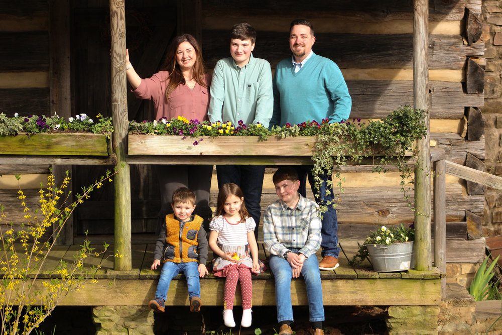 Kevin and Melissa live with their four children at Windy Ridge Farm in Clarkesville, Georgia.