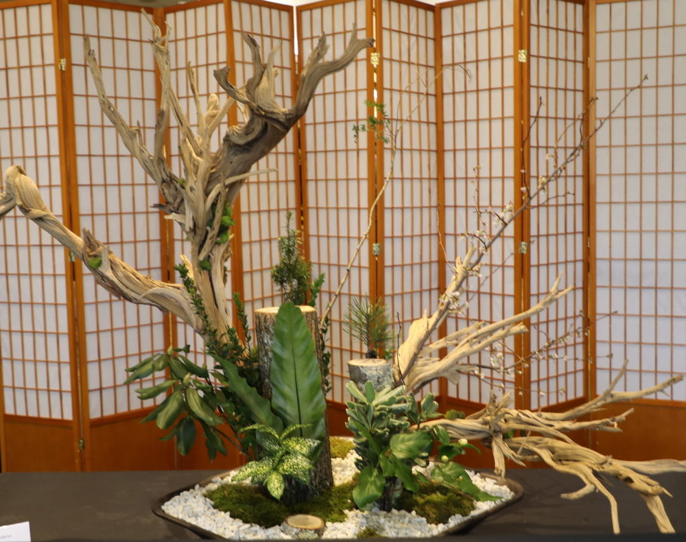 Photo ©Betsy Gibson Design, Ikebana Exhibit, Boston Flower and Garden Show, 2019