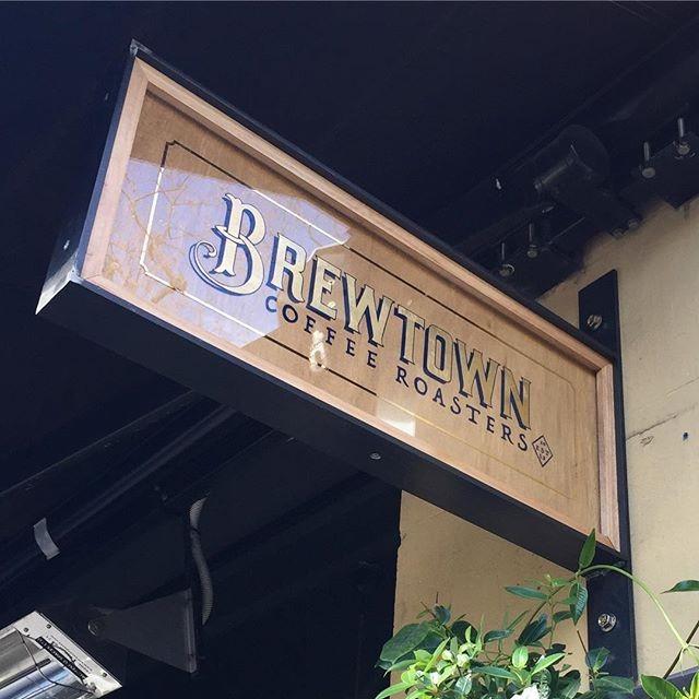 BLADE SIGN - TIMBER & STEEL FRAME  This Steel & Timber frame we made for a Sydney Cafe group @brewtownnewtown.  Artwork by our friends at @lynesandco who are incredible at what they do. . . . . . #interiordesign #bladesign #outdoorsignage #lynesandco #sydneydesigner #handcrafted #sydneycafes #brewtown #smokinggunbagels #surryhills #sydneyrestaurants #sydneybars  #innerwest #innerwestsydney #newtown #goldleaf #handmade #shopdesign #sydneystylist  #coffeesydney