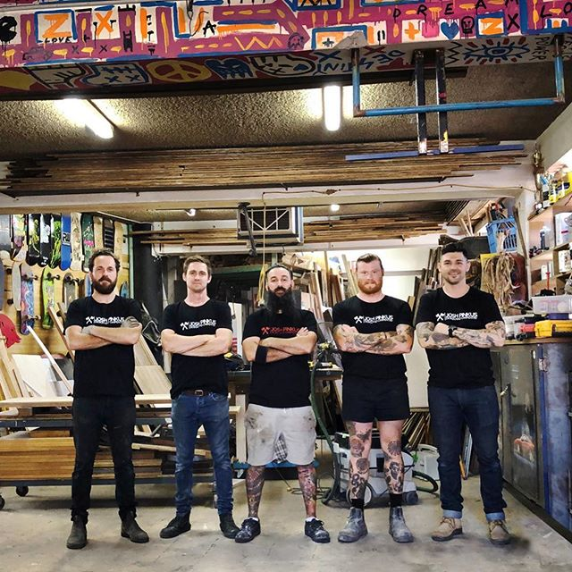 Incase you thought it was just me - I couldn't do what I do without this awesome crew. Also, check out our new work shirts from my good mates @sweeneybrosprint