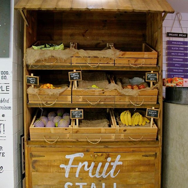 This is a job from a while back. Custom made fruit stall from 80 year old Baltic pine