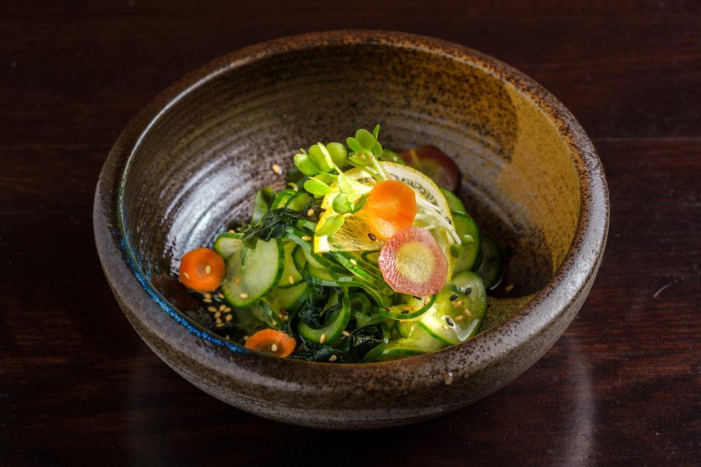 Cucumber in Vinaigrette Salad