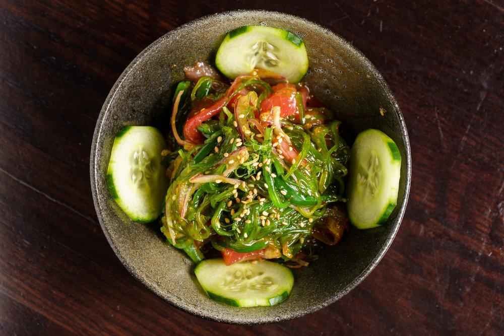 Tuna Poke with Seaweed Salad