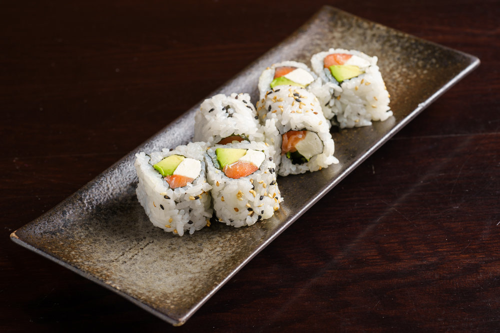 Salmon and Cream Cheese Roll