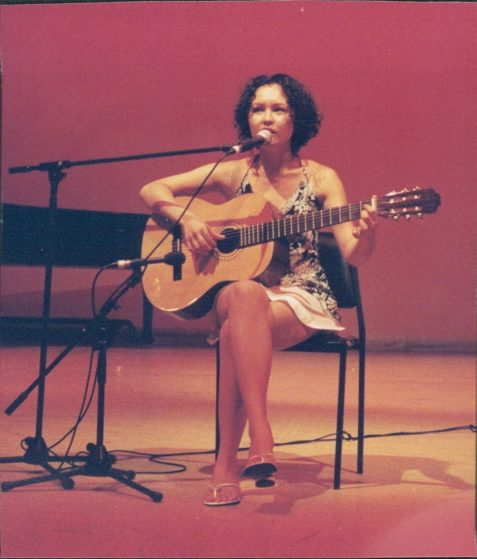 Performing an original song at my high school graduation