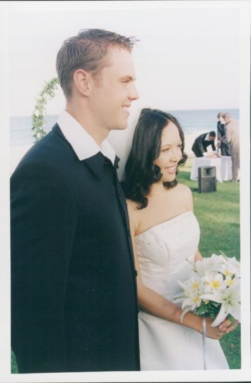 Our wedding day! I was only 18 :)