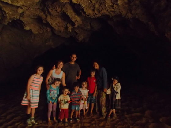 Holiday activities: Going on a bear hunt- we explored a cave near Jurien Bay