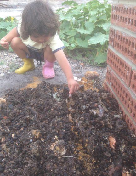Elijah planting garlic