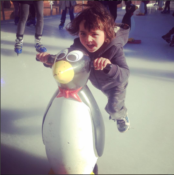 Not a bad day for Elijah and his penguin