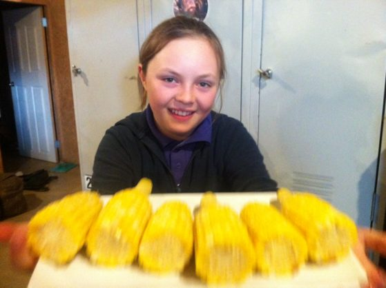 Kids can cook corn on the cob