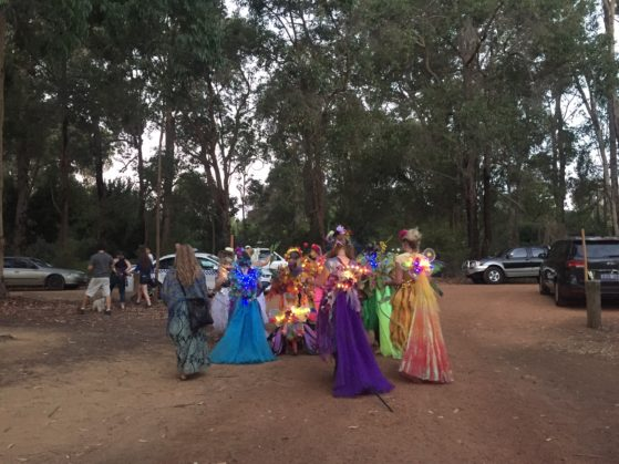 Faeries in our midst in the 'artist only' section at Nannup music festival