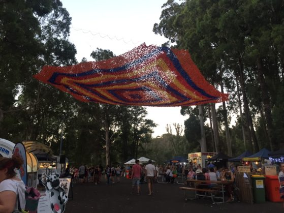 Kale's favourite food stall at the Nannup music festival was Simmo's Ice Cream