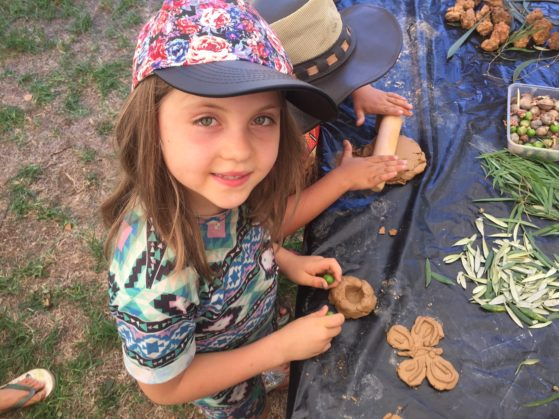 Jewel making clay creations at nannup music festival